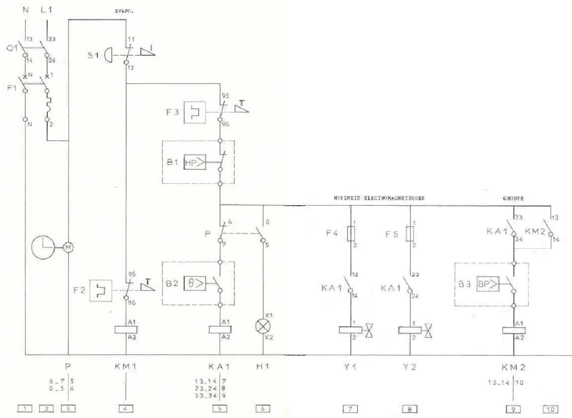 Schema tirage au vide unique for Schema electrique chambre
