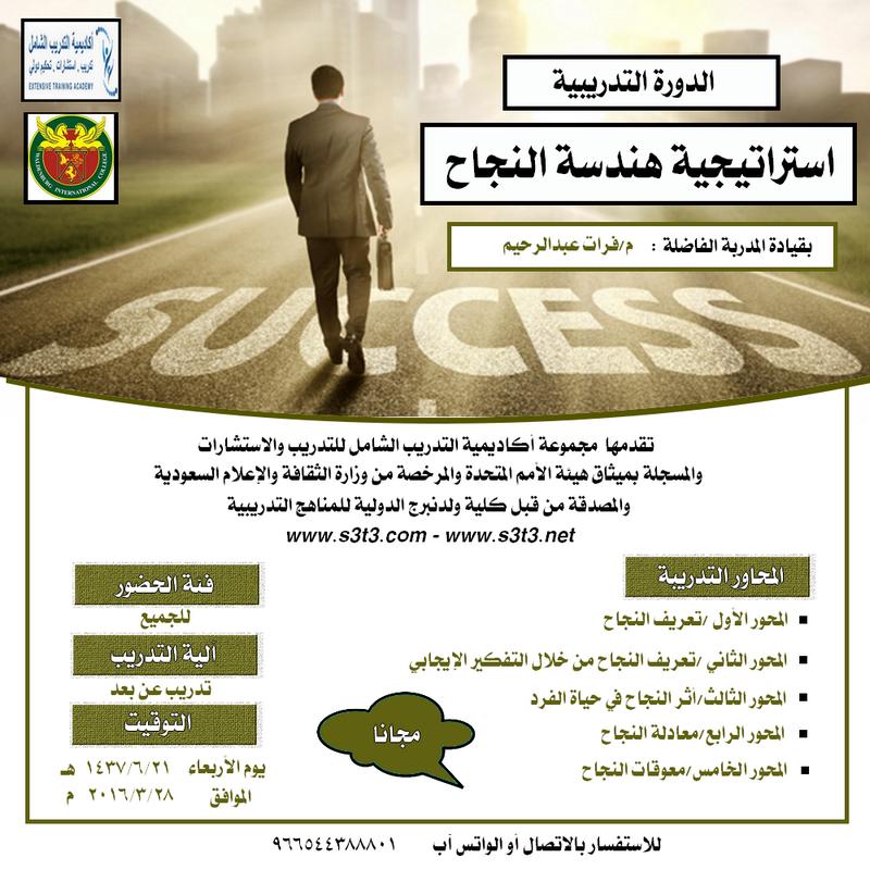 الدورة التدريبية (استراتيجية هندسة النجاح)