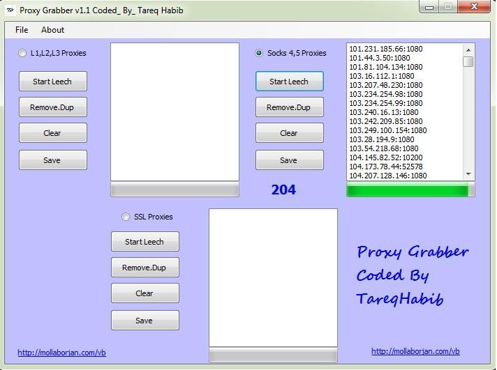 حصريا|| برنامج Proxy Grabber v1.1 Coded